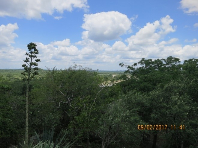 miles of wilderness as seen from sondelani camp zimbabwe