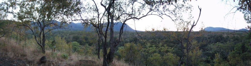 Panaramic View at overlook in Zimbabwe