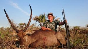 Gerry with his Waterbuck Trophy in Mozambique