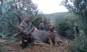 Etiennes Kudu Trophy with Clint and Abby