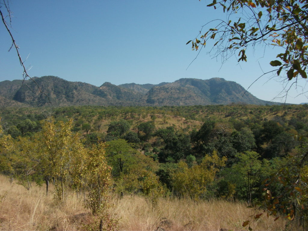 Zimbabwe ridge looking down to valley
